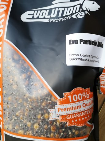 Fresh prepared particle mix